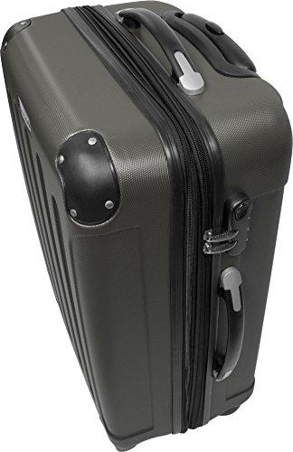 ABS Hartschalen Kofferset 3-tlg. mit vier Leichtlaufrädern Foliage