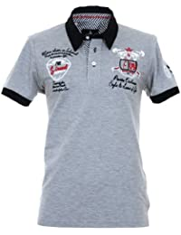 Pontto Herren Designer Polo Hemd Shirt weiß kurzarm - Polohemd Poloshirt Gr. S - 4XL