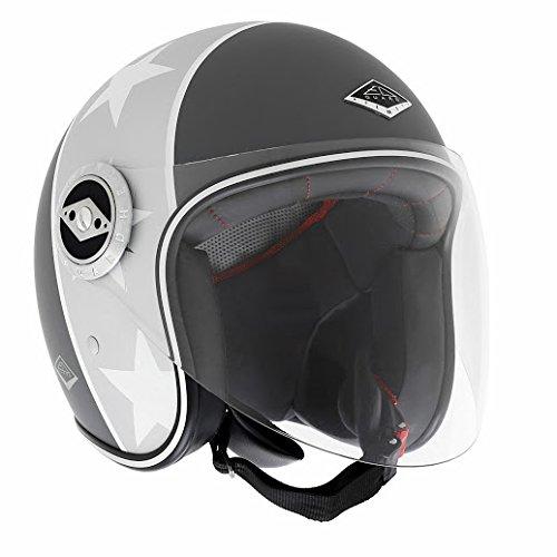 Preisvergleich Produktbild EDGUARD Jethelm Motorrad Dirt Ed Black n 'Roll, Schwarz/Grau Matt, XS