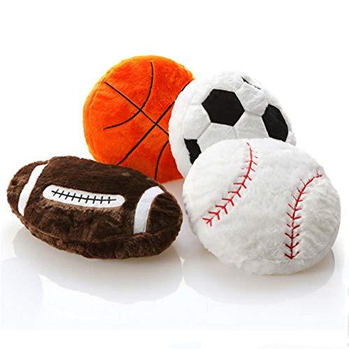 Homieco Ausgestopft Plüsch Kissen Spielzeuge Weich Flauschige Baby Puppe Sport DIY Baseball Polster Kissen Geschenke zum Kinder -