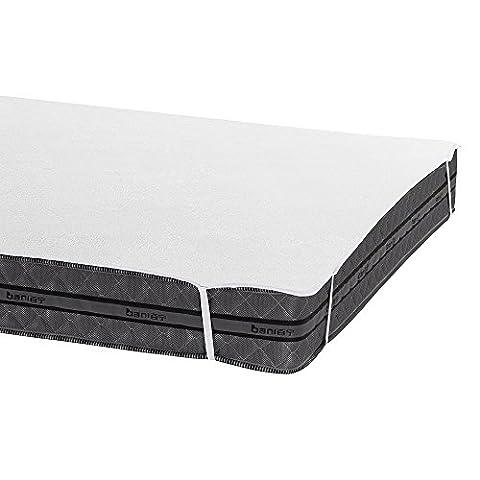 Bedecor Protège Matelas Imperméable et Respirante de Blanc 100% Coton(180x200 - 180x190 cm)