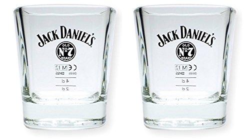 2 Stück Jack Daniels Whisky Tumbler - original Gläser 2cl/4cl Set (Jack Daniels Single)