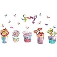 QTZJYLW Decoración Creativa De La Pared Flor En Una Maceta Patrón Póster De La Pared Interior