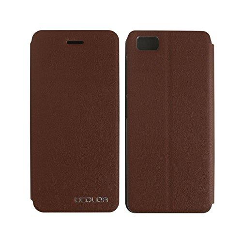 Guran® PU Leder Tasche Etui für UleFone Future Smartphone Flip Cover Stand Hülle Case-braun