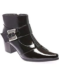 15d47c3300898 Amazon.fr   bottines vernis noir   Chaussures et Sacs