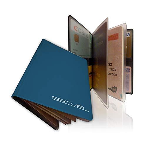 SECVEL Reisepass Datenschutzhülle Lagoon - (Schutz vor unbefugten Auslesen von Reisepass, ePass und elektronischen Pässen, RFID Chip in der Hülle Nicht auslesbar, Magnetfeldschutz)