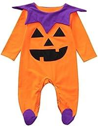 QinMM Peleles de Halloween para bebé niña y niño, Mono Body de Primavera otoño de