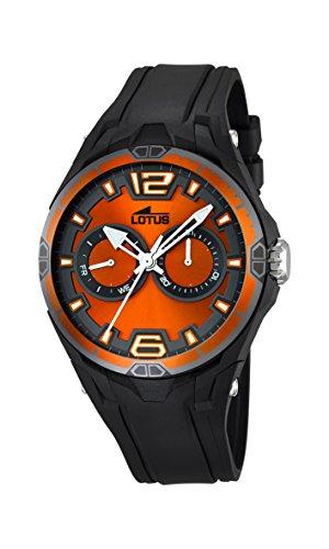 Lotus 18184/3 - Reloj de pulsera hombre, Caucho, color Negro