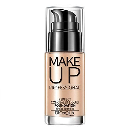 Sixcup Makeup Liquid Foundation Moisturizing Waterproof Concealer BB Cream-Natural Makeup Face (Natural color)