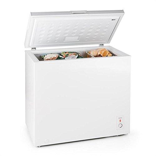 Klarstein Iceblokk congelador horizontal (200 litros capacidad, 213 kWh/a, clase eficiencia energética...