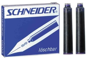 Schneider Black Fountain Pen Ink Cartridges 6pcs (set of 15)  available at amazon for Rs.295