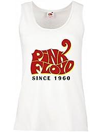 LaMAGLIERIA Camiseta de Tirantes Mujer Pink Floyd Since1960 PF0004 - t-Shirt Rock 100% Algodòn