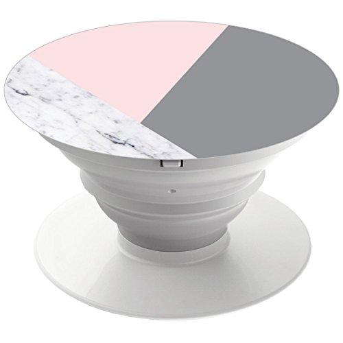 iulosngpk. Pop Handy Halter. Expansion Ständer und Griff Halterung Fassungen für alle Smart phone und Tablet–Chic Marmor Rosa Grau Abstrakt