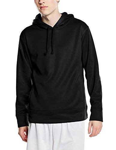Stedman Apparel Herren 's Active Bonded Fleece/ST5800lang Sleeve Hoody Gr. XX-Large, Black Opal Xx Bonded Fleece
