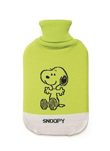 Molecuisine Excelsa Peanuts-Wärmflasche Snoopy grün 35x19x3.5 cm grün