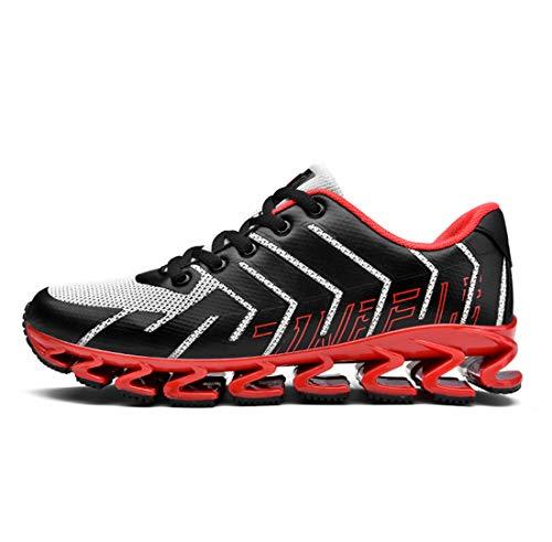 tmungsaktive Maschen Joggingschuhe Männlichen Kreativen Stil Dämpfung Laufschuh-Gezeiten Schuhe,Red,43 ()