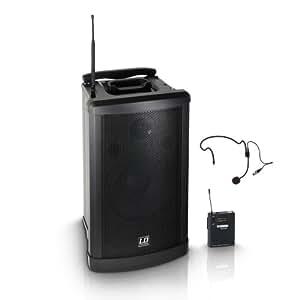 LD Systems LDRM102HS Roadman 102 Enceinte de Sono Portable active avec Micro Serre-tête