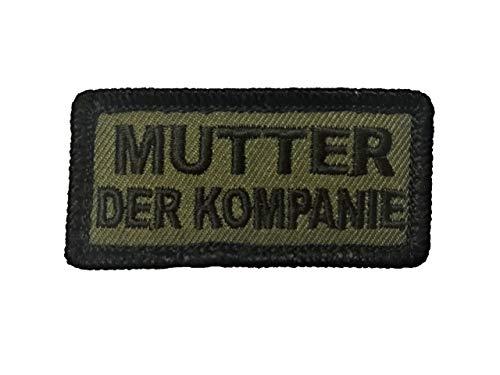 Café Viereck Mutter der Kompanie Spieß Bundeswehr Fun Patch Gestickt mit Klett