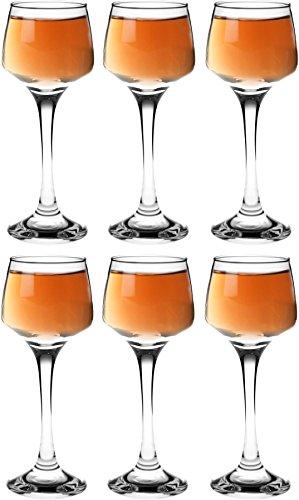 Argon Tableware Sherry- / Likörgläser - 80 ml - 6 Stück mit Geschenkverpackung