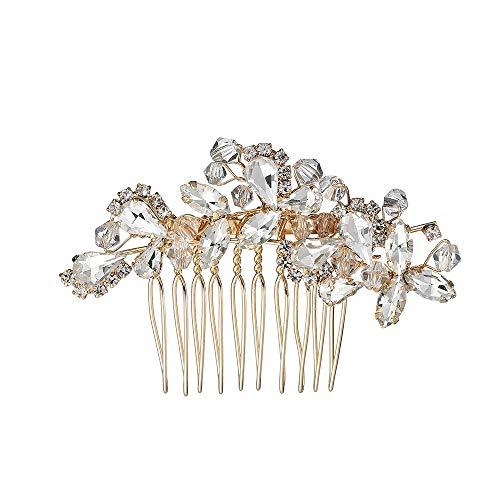 QINJLI Braut Haarkamm, Vintage Kristall Legierung Kamm Kamm Kleid Accessoires romantische Hochzeit 7 * 4.5cm