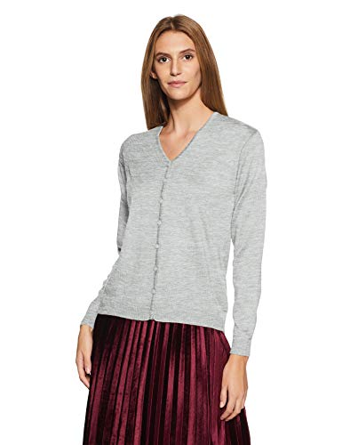 Qube By Fort Collins Women's Cardigan (702 SMU_Grey_L)
