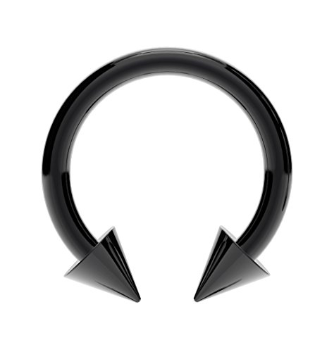 surgical-steel-horseshoe-bar-anodized-black-with-cones-lip-nose-septum-ear-tragus-ring-various-sizes