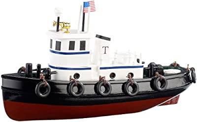 """Playtastic Holzbaukasten Schiff: Schiff-Bausatz """"Schlepper"""" aus Holz (70 Teile) (Schiffs Modellbausatz) von Playtastic"""