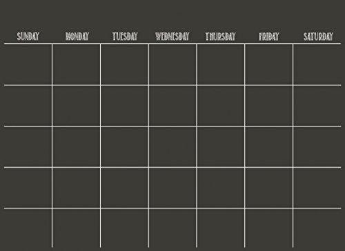 Wallpops Kalender, Schwarz, trocken abwischbar (Black Dry Erase Board)