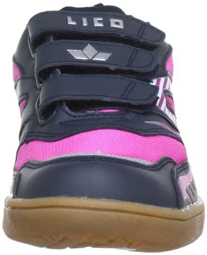 Lico Paterson V, Chaussures indoor fille Bleu - Blau (marine/pink/silber)