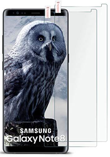 moex 2X 9H Panzerfolie für Samsung Galaxy Note8 | Panzerglas Bildschirm Glasfolie [Tempered Glass] Screen Protector Glas Bildschirmschutz-Folie für Samsung Galaxy Note 8 Schutzfolie