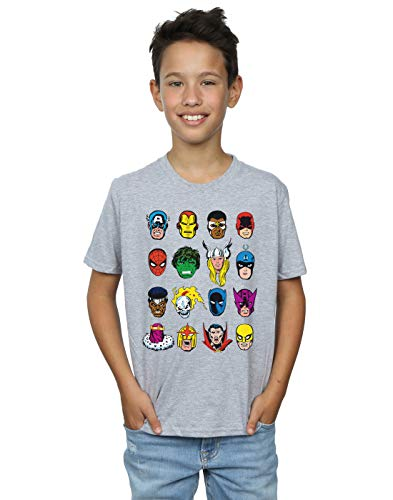 Marvel niños Comics Faces Camiseta 5-6 Years Gris...