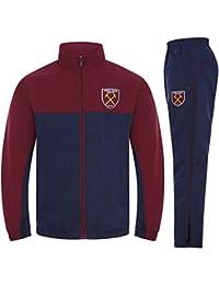 75f436475f4 West Ham United FC Official Football Gift Boys Kids Jacket & Pants  Tracksuit Set Navy Blue