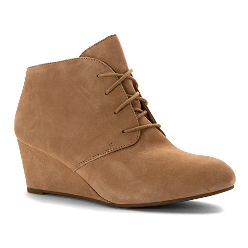 Vionic donna elevate Becca wedge lace-up Light Tan