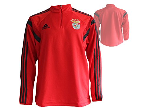 adidas Herren Sweatshirt SLB TRG TOP, Rot/Grau, XL, 4054072486565 (Fußball Trikot Benfica)