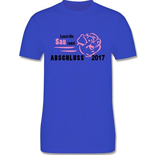 Abi & Abschluss - Lasst die Sau raus - Abschluss 2017 - Herren Premium T-Shirt Royalblau