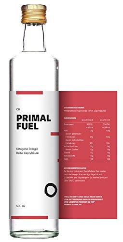 C8 MCT Öl aus reiner Caprylsäure PRIMAL FUEL in Glasflasche | Geschmacksneutral | Reine Caprylsäure (C-8) | Bulletproof Coffee, Low Carb, Ketogen und Paleo | MCT Oil - 500ml Test