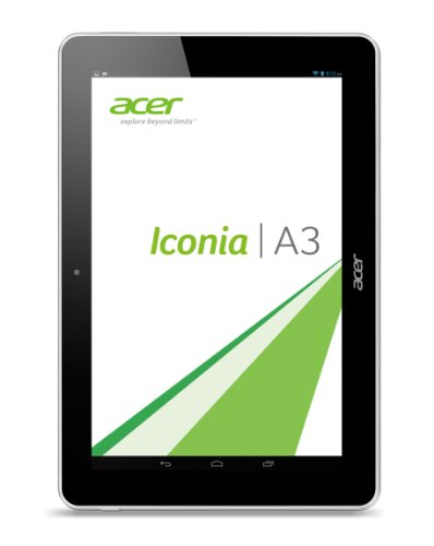 Acer Iconia A3-A10 25,4 cm (10 Zoll) Tablet-PC (ARM MTK MT8125, 1,2GHz, 1GB RAM, 32GB eMMC, Android 4.2) weiß