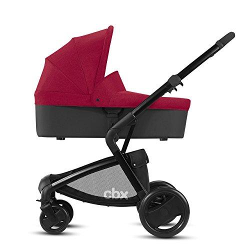 CBX Bimisi Pure Passeggino Combinato con Seduta Reversibile e Navicella Pieghevole per Neonati, Parapioggia Incluso, dalla Nascita Fino a 15 kg, Crunchy Red