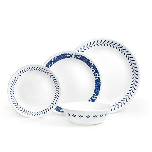 corelle-sannois-chip-e-resistente-a-sbeccature-vetro-blu-16-pezzi