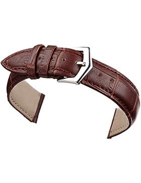 14mm braun Leder Armband Riemen Ersatz für Frauen echte Kalbsleder Alligatorprägung