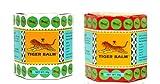 Pomata per massaggi balsamo di tigre, 2 confezioni x 19.4 g, colore: rosso e bianco, per il sollievo dal dolore muscolare, al mentolo