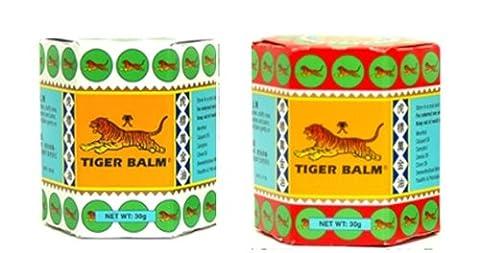2x19.4g Tigre Pommade soulager la douleur musculaire de massage Baume Rouge Blanc Herbal Menthol