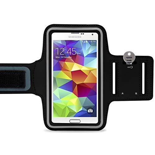 LetiStore Handy Sport Armband - Für Samsung Galaxy S9 / S8 / S7 / S6 / Edge / A8 / A6 / A3 / A5 / J6 / J3 / J5 / J7 Smartphone Sportarmband Zum Joggen - Neopren Sporthülle bis 5,7 Zoll - Schwarz