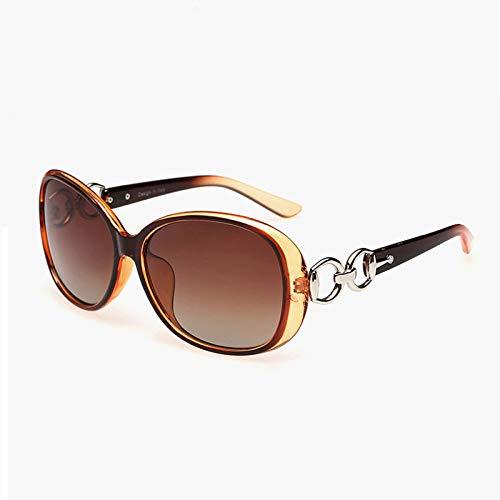 Yangjing-hl Damen Sonnenbrillen Mode Retro Polarisator Hipster Sonnenbrille doppelt braun