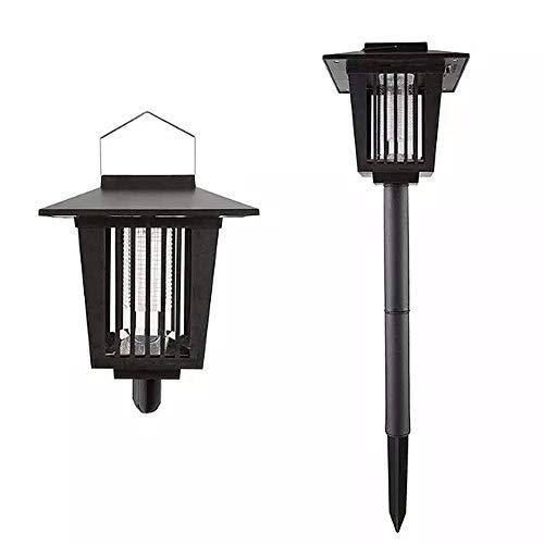 Yozhanhua Solarbetriebene LED-Lampe für Mücken, Schädlingsbekämpfung, Insektenvernichter, UV-Lampe für drinnen und draußen, für Haus, Garten, Veranda, Terrasse, Hinterhof -