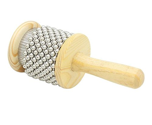exoh Pop Holz Cabasa Shaker Small Hand Percussion Instrument Kleine Größe-S
