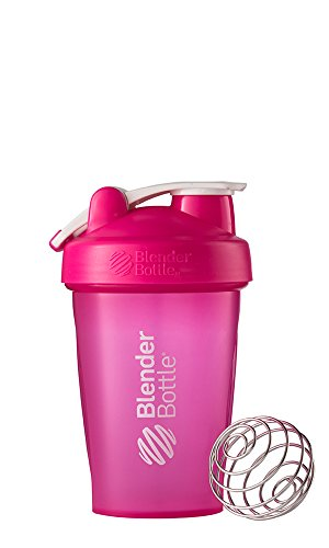 BlenderBottle Classic Loop Shaker mit Blenderball - full-color pink Fassungsvermögen, 590 ml skaliert bis 400 ml, 1er Pack (1 x 590 ml)