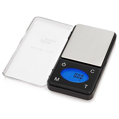 Smart Weigh ZIP300 Ultraschmale Digitale Taschenwaage Feinwaage Küchenwaage Briefwaage Münzwaage Goldwaagemit Zählfunktion Und Einer Auflösung Von 300/0,01g