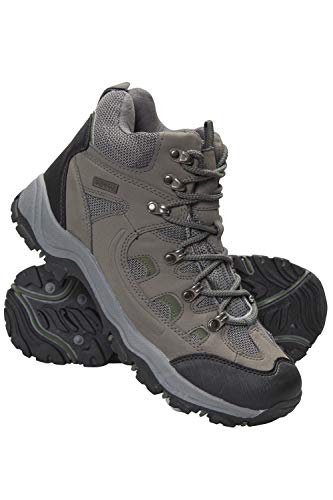 Mountain Warehouse Boots Hommes Adventurer - Chaussures imperméables, Textile & synthétique, adhérence supplémentaire - Chaussures pour la randonnée et Les treks Kaki 43