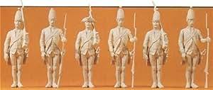 Preiser 1/24 Ème - PR57809 - Modélisme Ferroviaire - Prussiens à Peindre 6 Figurines
